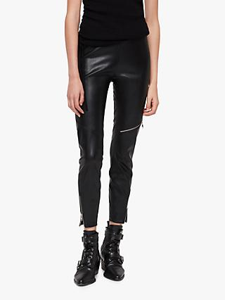 AllSaints Biker Leggings, Black
