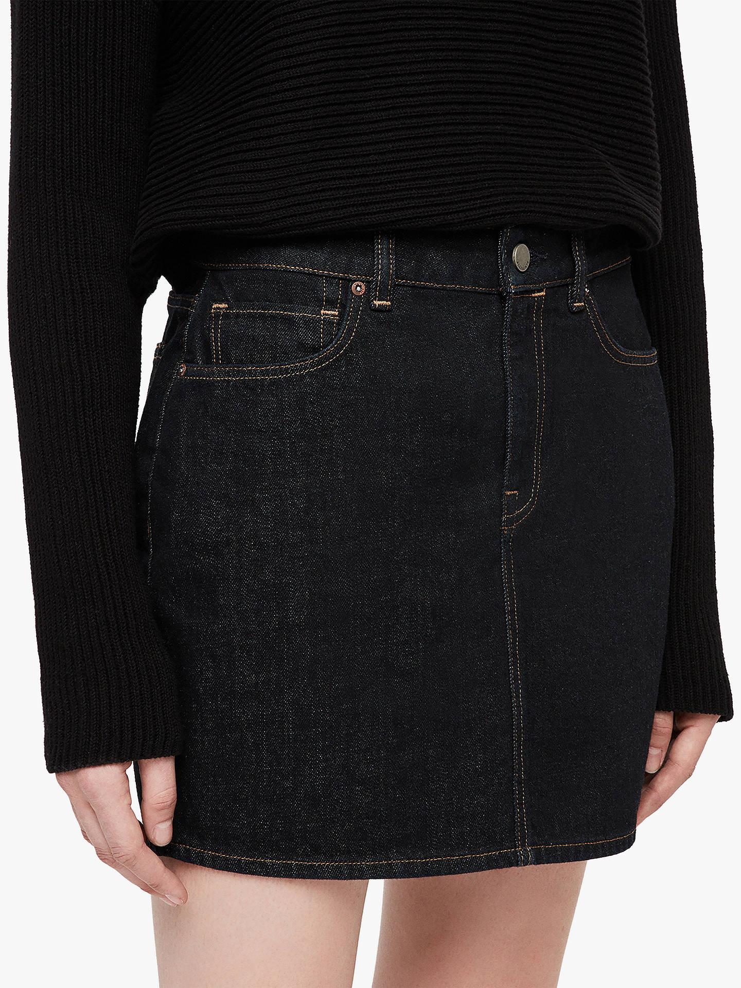 457b1bdaf77d39 Buy AllSaints Betty Denim Skirt, Indigo Blue Rinse, 12 Online at  johnlewis.com ...