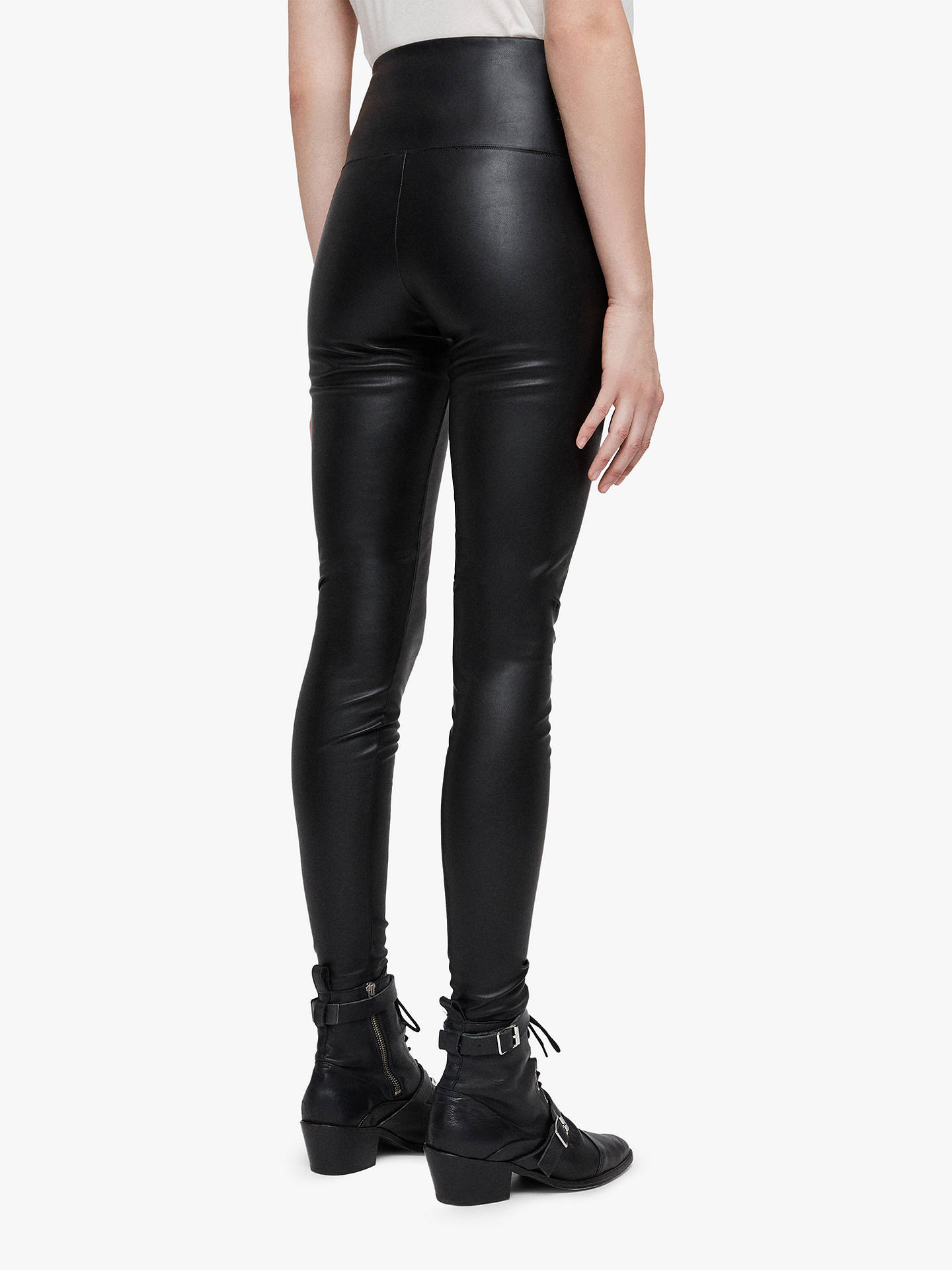 BuyAllSaints Cora Leggings, Black, 8 Online at johnlewis.com