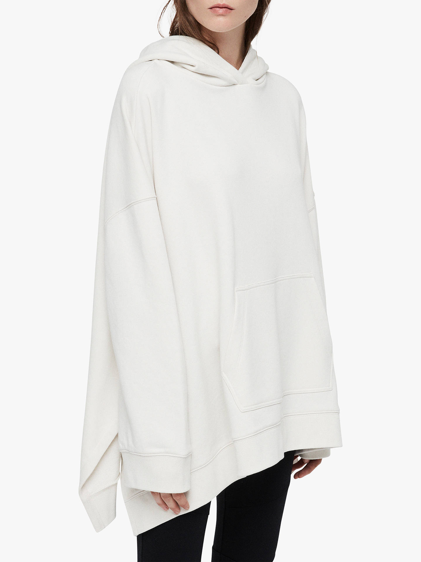 BuyAllSaints Harmon Oversized Hoodie, Ivory White, M-L Online at johnlewis.com