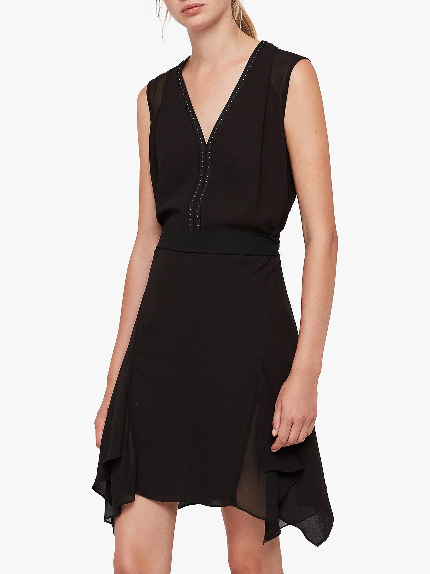 67ba4fe59a6 Buy AllSaints Izara Asymmetric Stud Dress