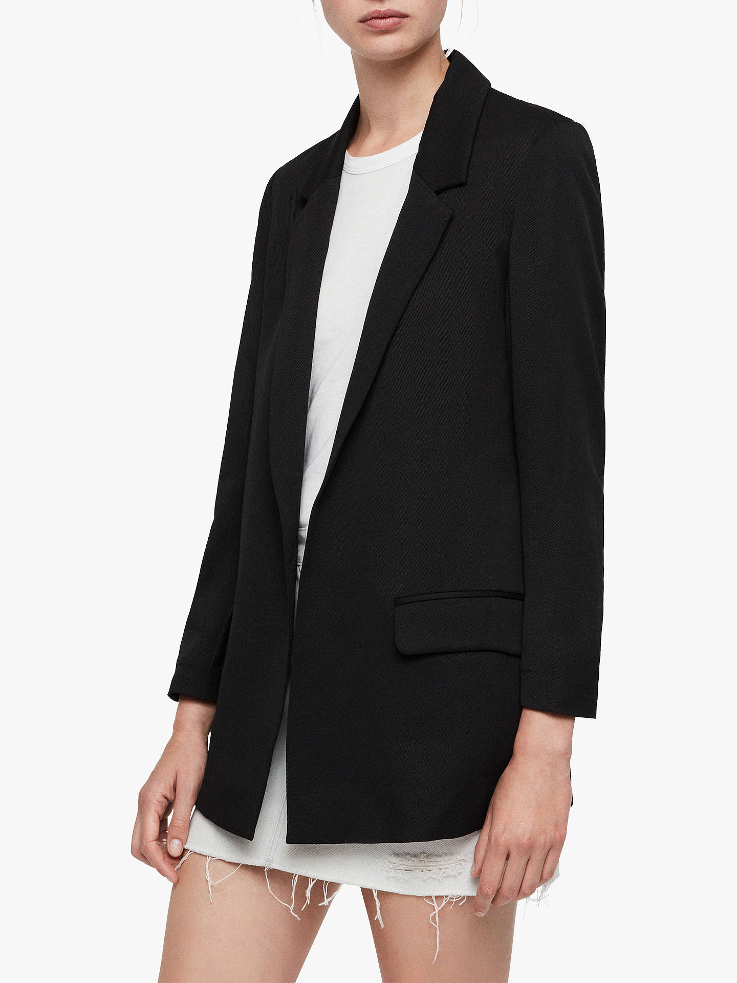 Buy AllSaints Aleida Long Sleeve Blazer, Black, 8 Online at johnlewis.com