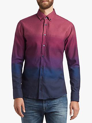 7803037dd2b167 BOSS Degrade Long Sleeve Slim Fit Shirt