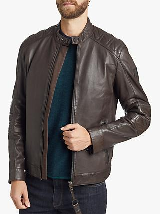 BOSS Slim Fit Leather Jacket