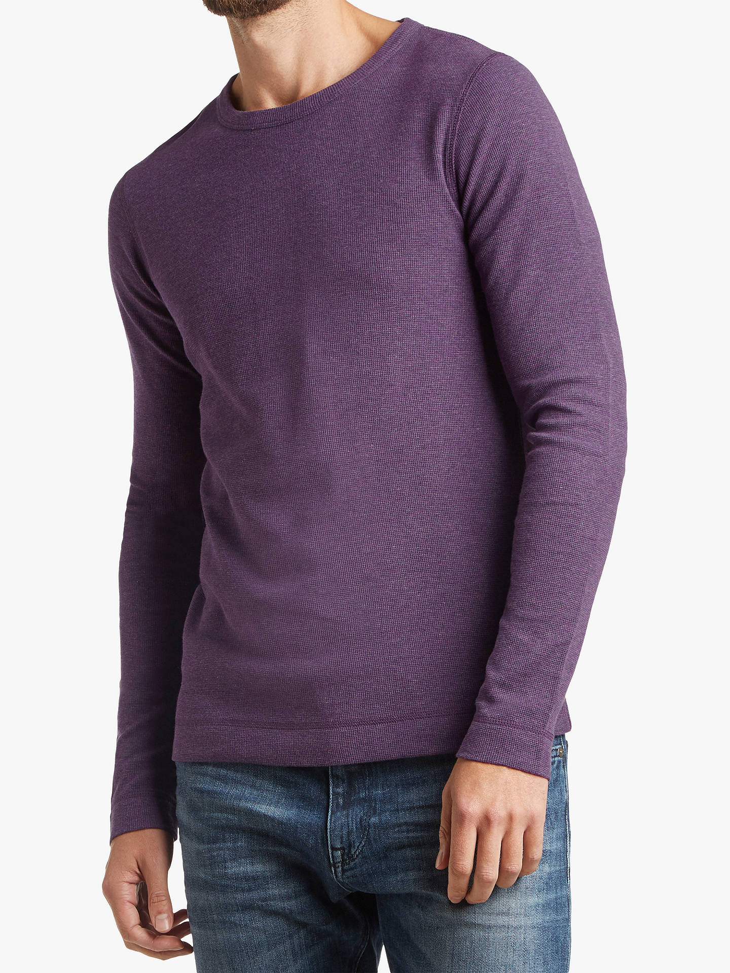 0666ced2257 Buy BOSS Waffle Stitch Long Sleeve Slim Fit T-Shirt