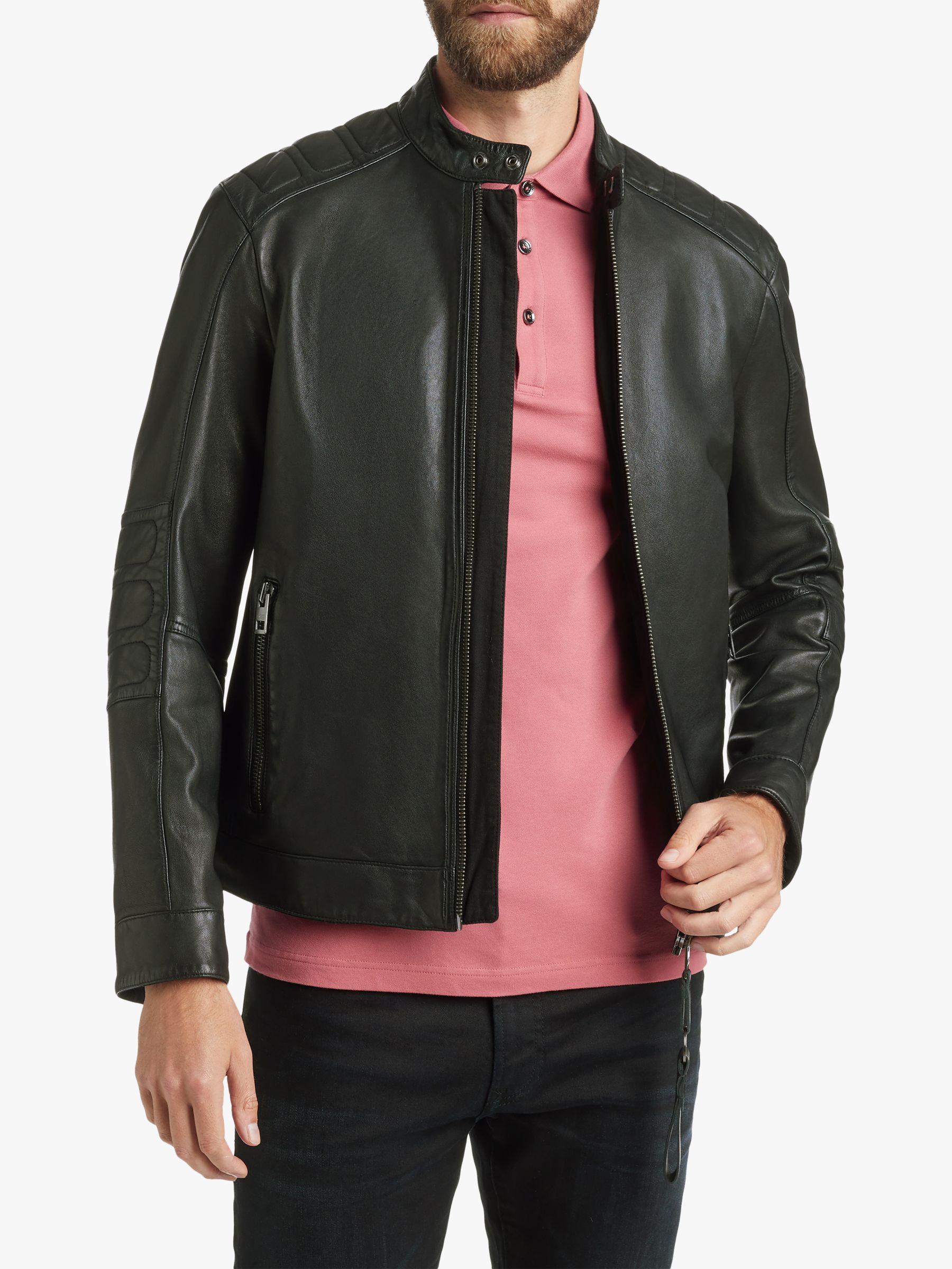hugo boss jagson leather jacket