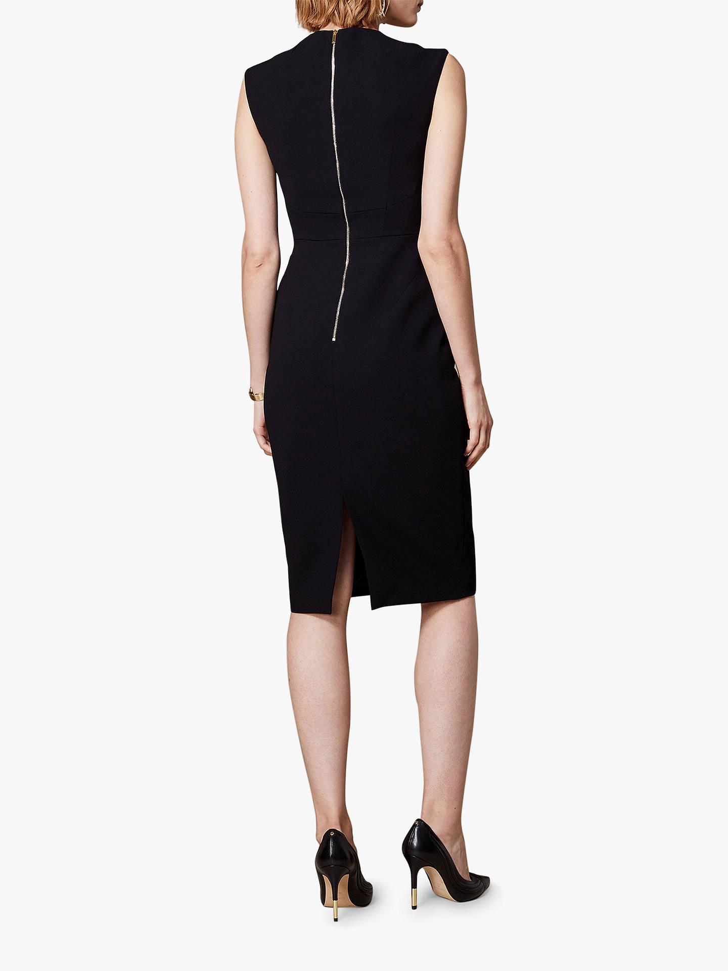 Karen millen black tailored contour bodycon dress