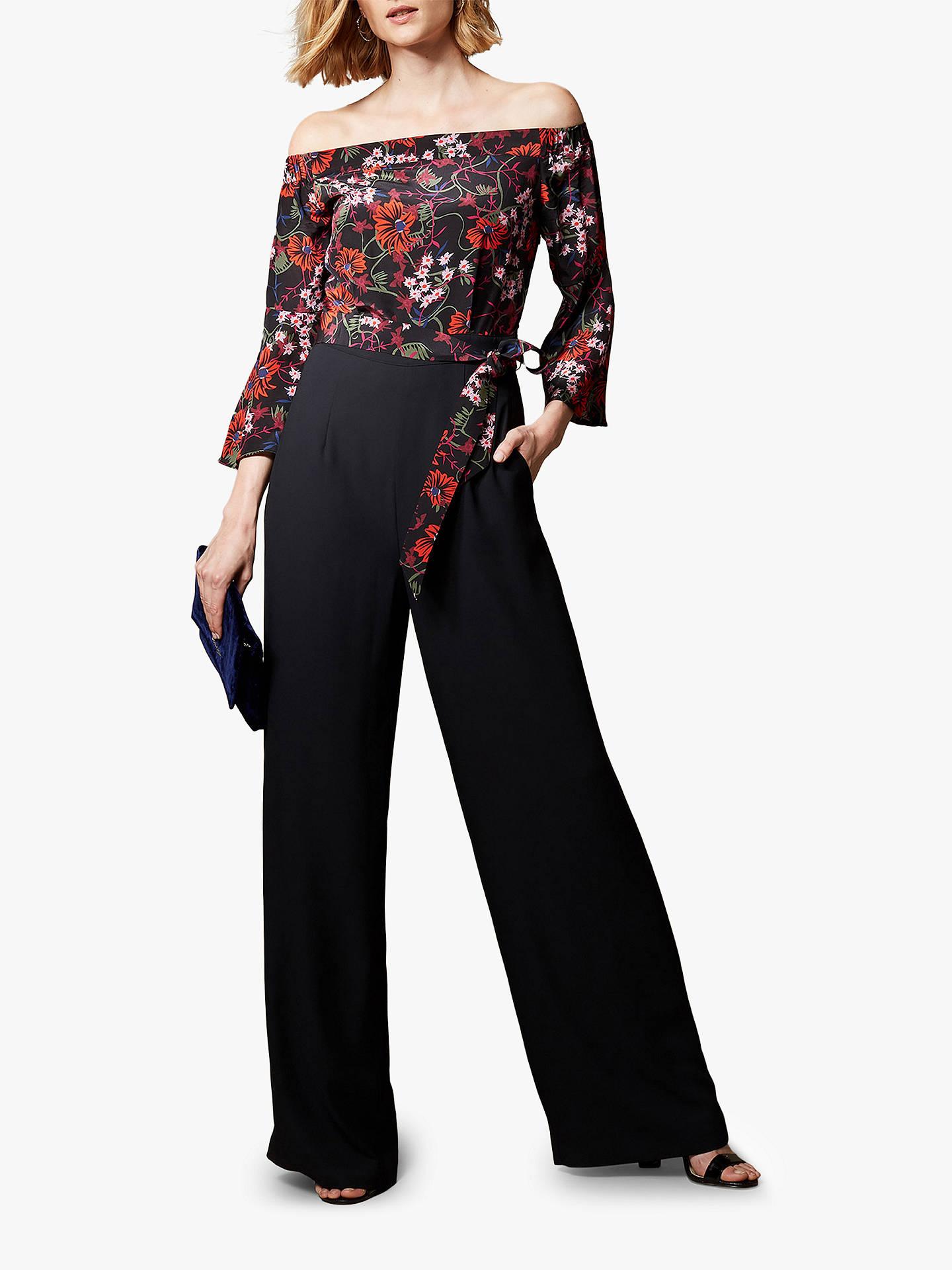 34d0ba1efc21 Buy Karen Millen Bardot Wide Leg Floral Jumpsuit