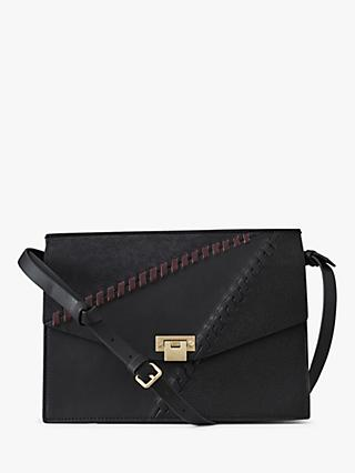 Reiss Conway Whip Sch Cross Body Bag Black