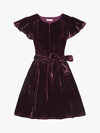 Jigsaw Girls' Silk Velvet Dress