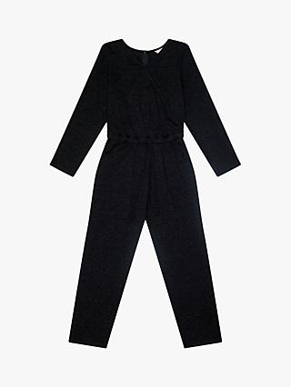 Jigsaw Girls' Wrap Sparkle Jumpsuit, Black