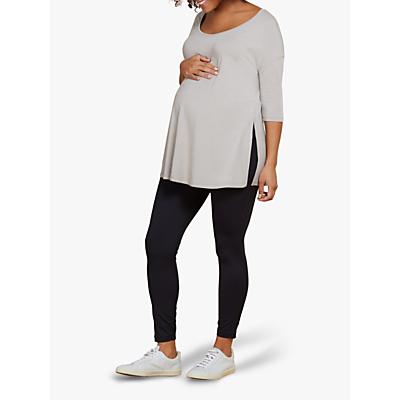 Isabella Oliver Maternity Yoga Top, Ash Grey