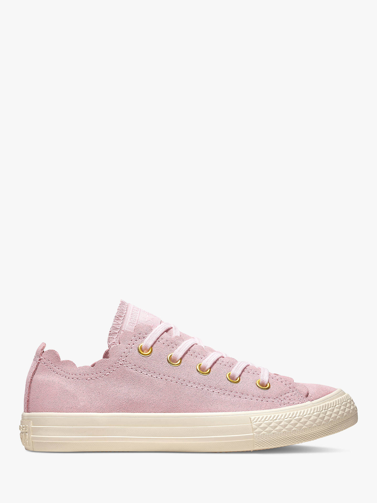 e78e97c4c6956c Converse Chuck Taylor All Star Suede Scallop Trainers at John Lewis ...