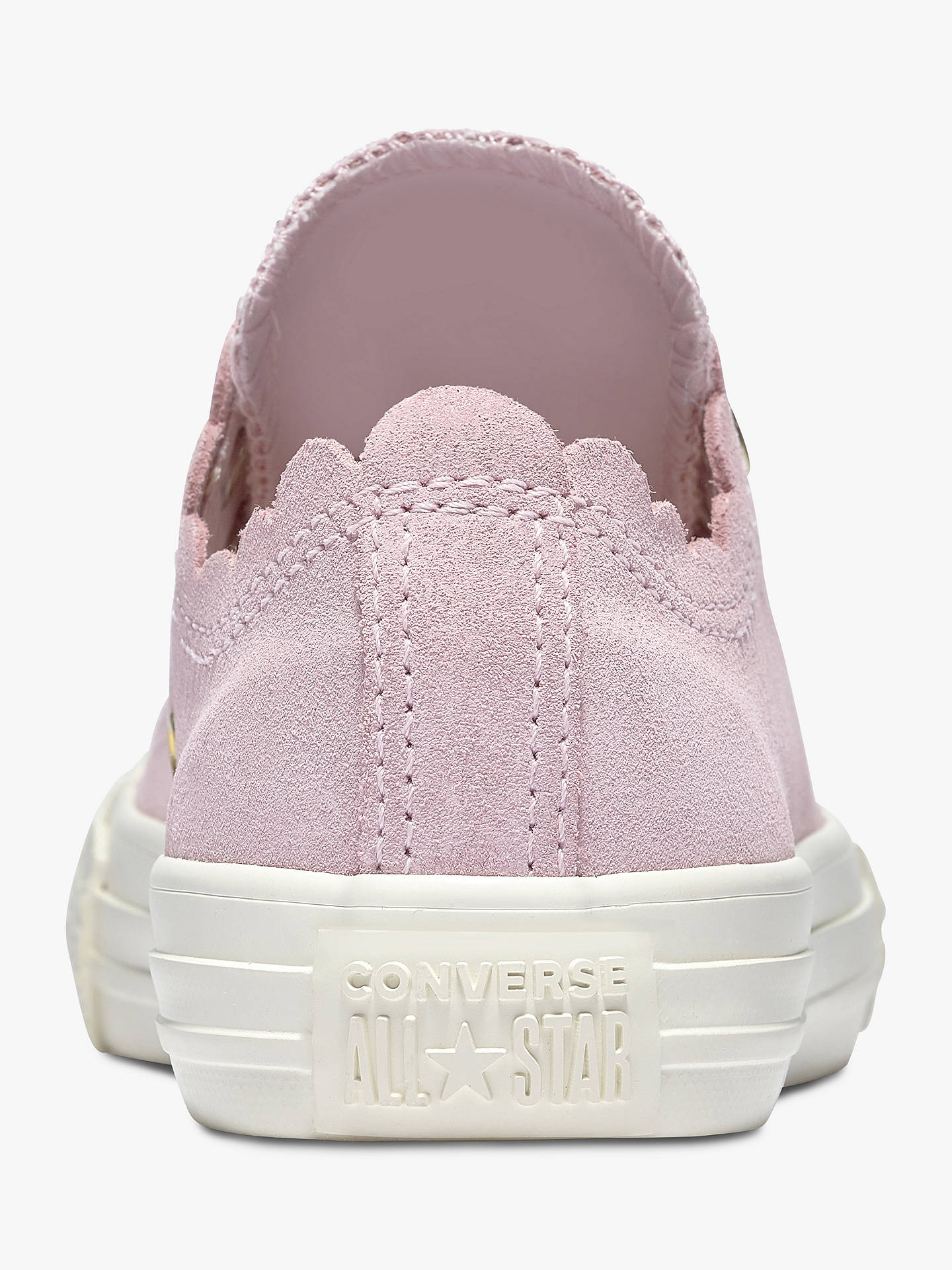 53871c8eff811 Converse Junior All Star Suede Scallop Trainers, Pink, Pink