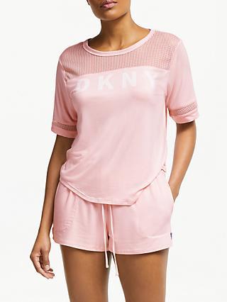 ca6d816762 DKNY Logo Mesh Pyjama Set