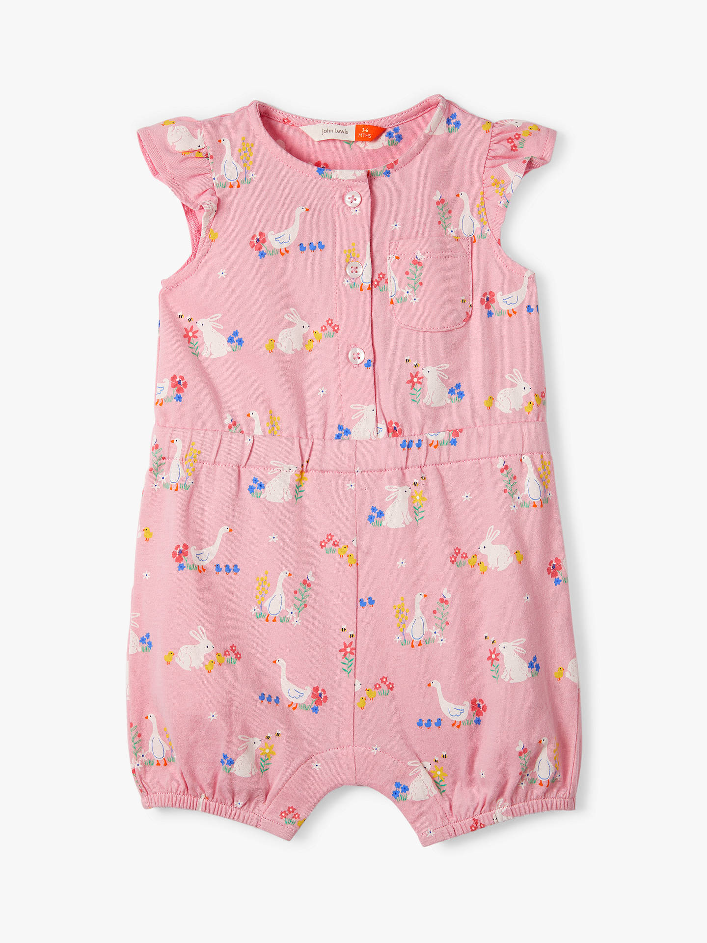 5e6496cc4c13 Buy John Lewis   Partners Baby Easter Friends Romper