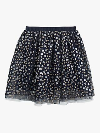 crewcuts by J.Crew Girls' Glitter Skirt, Navy
