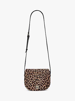 Hobbs Oxford Animal Print Saddle Bag Leopard