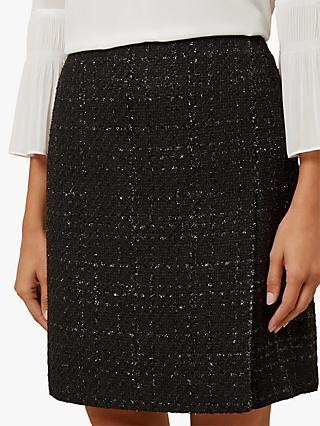 Hobbs Gabriella Tweed Skirt, Black