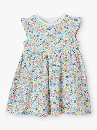 9edde9921 John Lewis & Partners Baby GOTS Organic Cotton Floral Dress, Multi