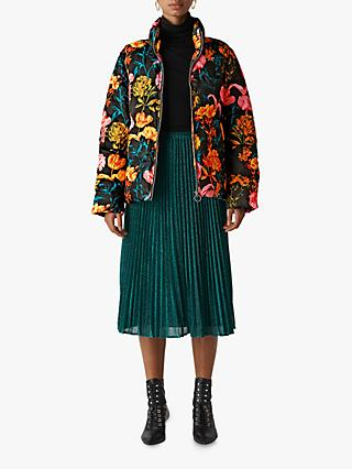 Whistles Floral Printed Puffer Jacket, Multi