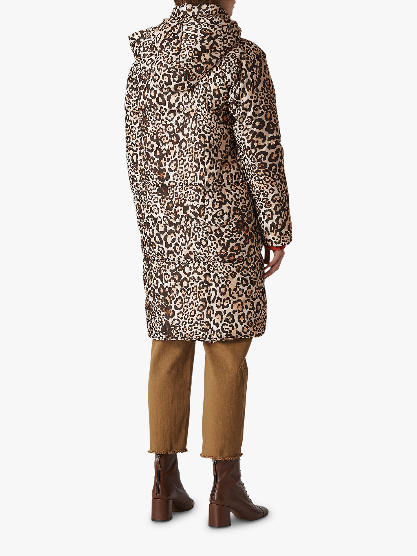 ce754f9b76f4 Buy Whistles Animal Print Longline Puffer Coat, Leopard Print, L Online at  johnlewis.