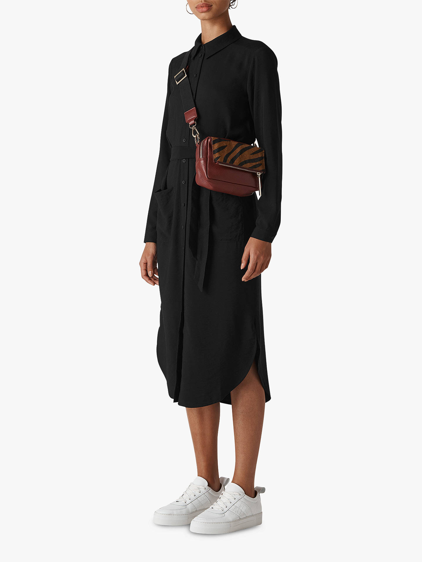 fd080a4a24c Buy Whistles Montana Long Sleeve Shirt Dress