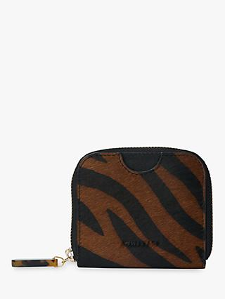 Whistles Murray Resin Leather Zip Wallet