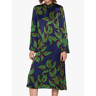Ghost Maya Satin Dress, Matisse Green Leaf