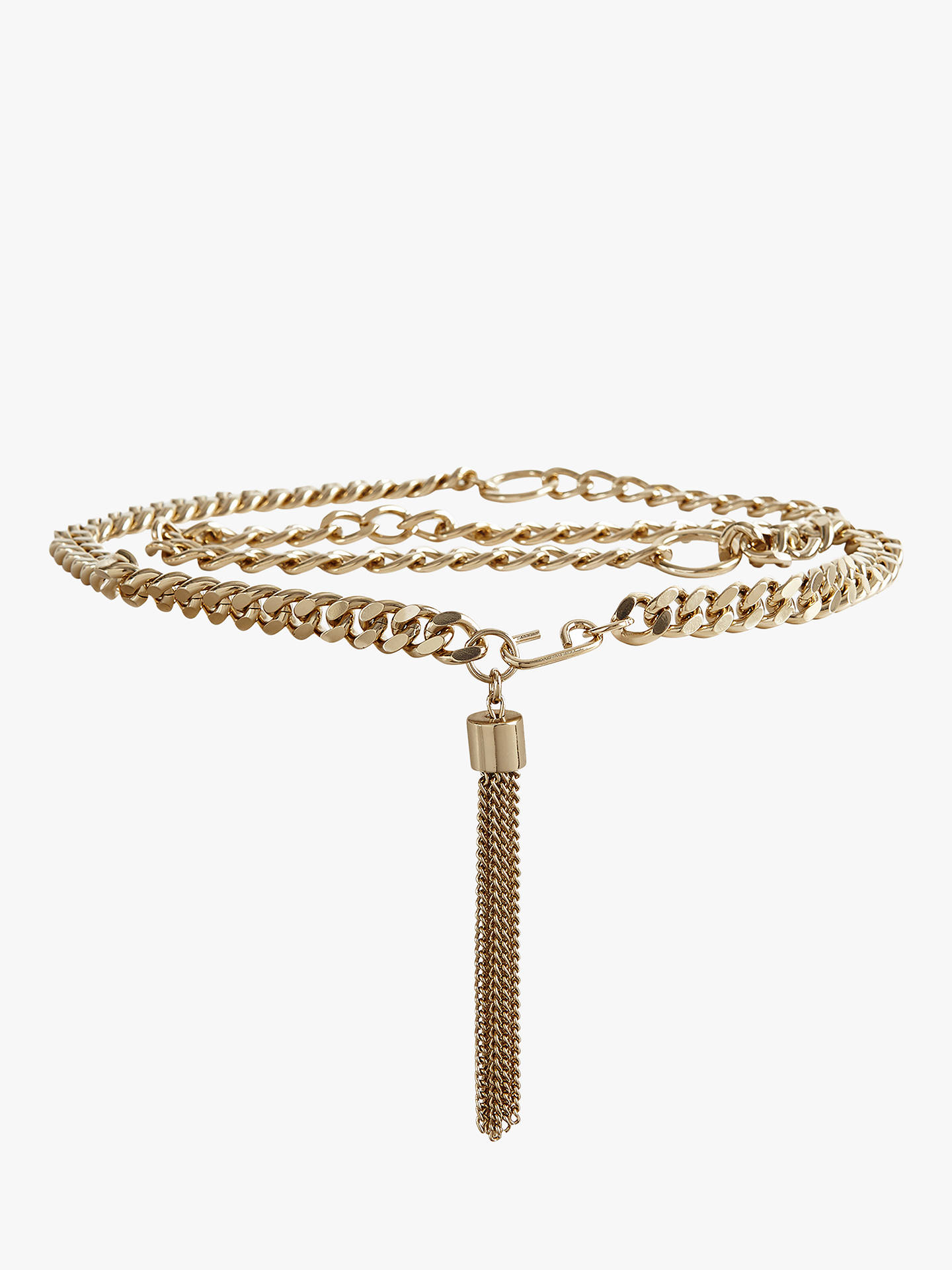 BuyReiss Cleo Gold Chain Belt, Gold, XS Online at johnlewis.com