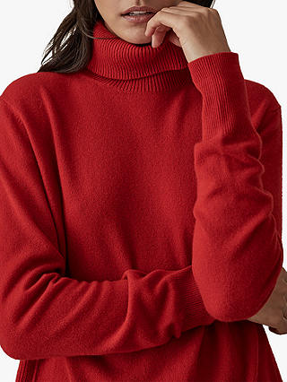 Buy Reiss Clarissa Cashmere Jumper, Red, XS Online at johnlewis.com
