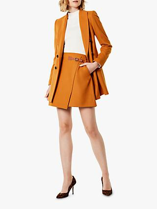 Karen Millen Wrap Mini Skirt, Burnt Orange