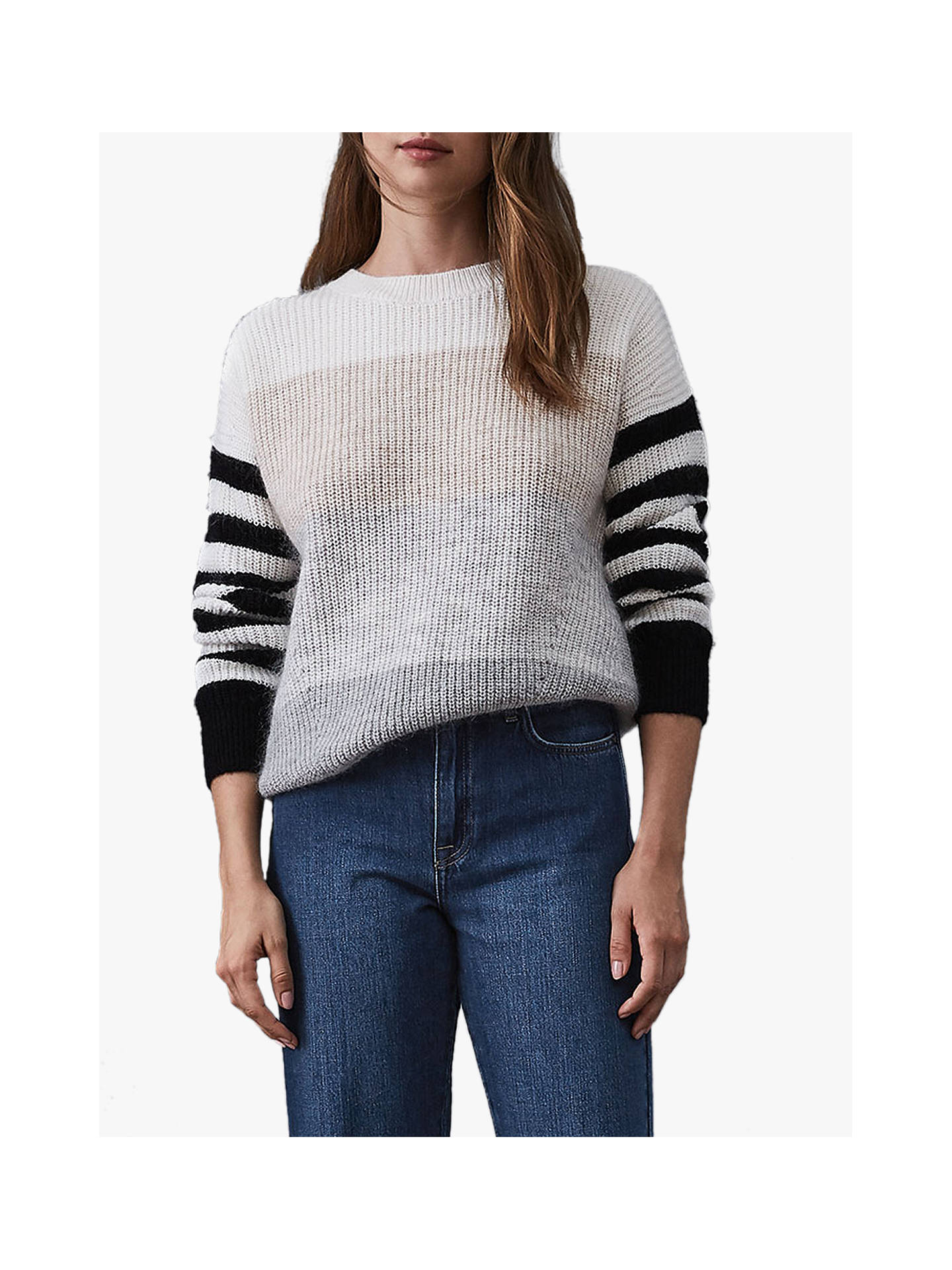 BuyReiss Haidee Stripe Cardigan, Multi, XS Online at johnlewis.com