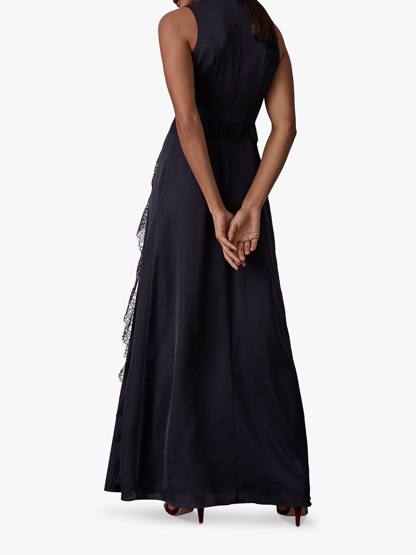 ee52becfb83 ... Buy Reiss Odette Lace Trim Maxi Dress, Navy, 6 Online at johnlewis.com  ...