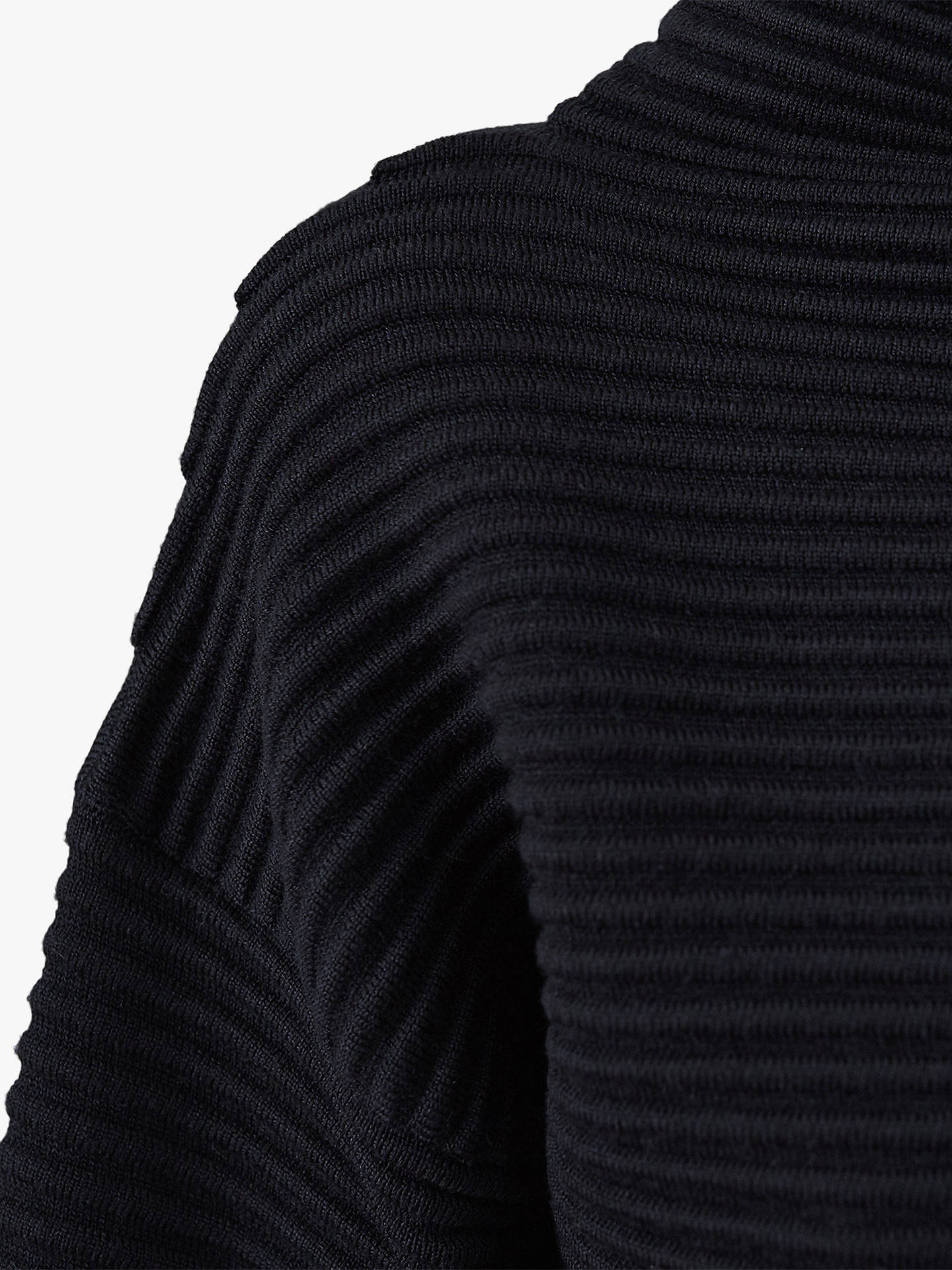 BuyReiss Malia Ottoman Ribbed Jumper, Navy, M Online at johnlewis.com