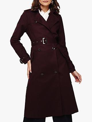 Phase Eight Trudie Trench Coat, Port