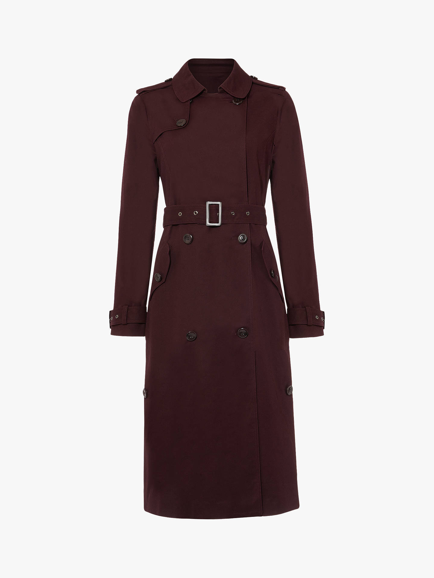 shop for genuine exquisite design fantastic savings Phase Eight Trudie Trench Coat, Port at John Lewis & Partners