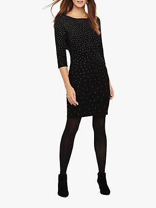 Phase Eight Madisyn Sparkle Knit Dress, Black