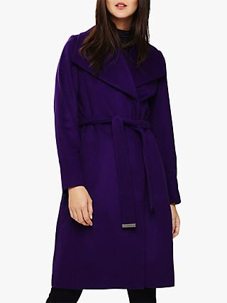 Phase Eight Nicci Wool Blend Coat, Purple