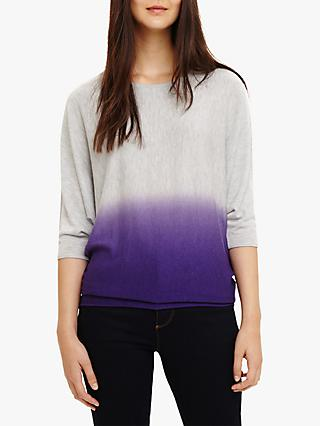 Phase Eight Becca Dip Dye Knit Jumper, Purple