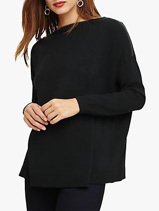 Phase Eight Nadene Zip Neck Knit, Pine