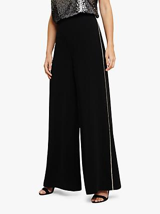 Phase Eight Safia Diamante Trousers, Black