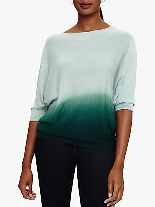Phase Eight Becca Dip Dye Knit Jumper, Sage Green
