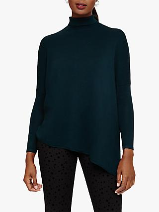 Phase Eight Melinda High Neck Knit Jumper, Petrol