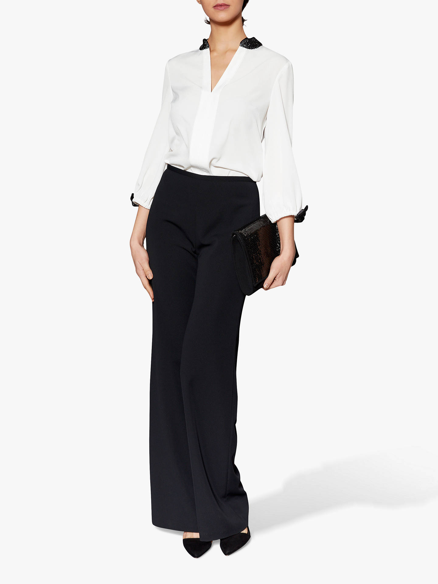 BuyGina Bacconi Jane Crepe Trousers, Black, 8 Online at johnlewis.com