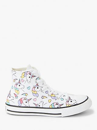 ec0d69ee3672 Converse Children s All Star Rainbow Unicorn Hi-Top Trainers