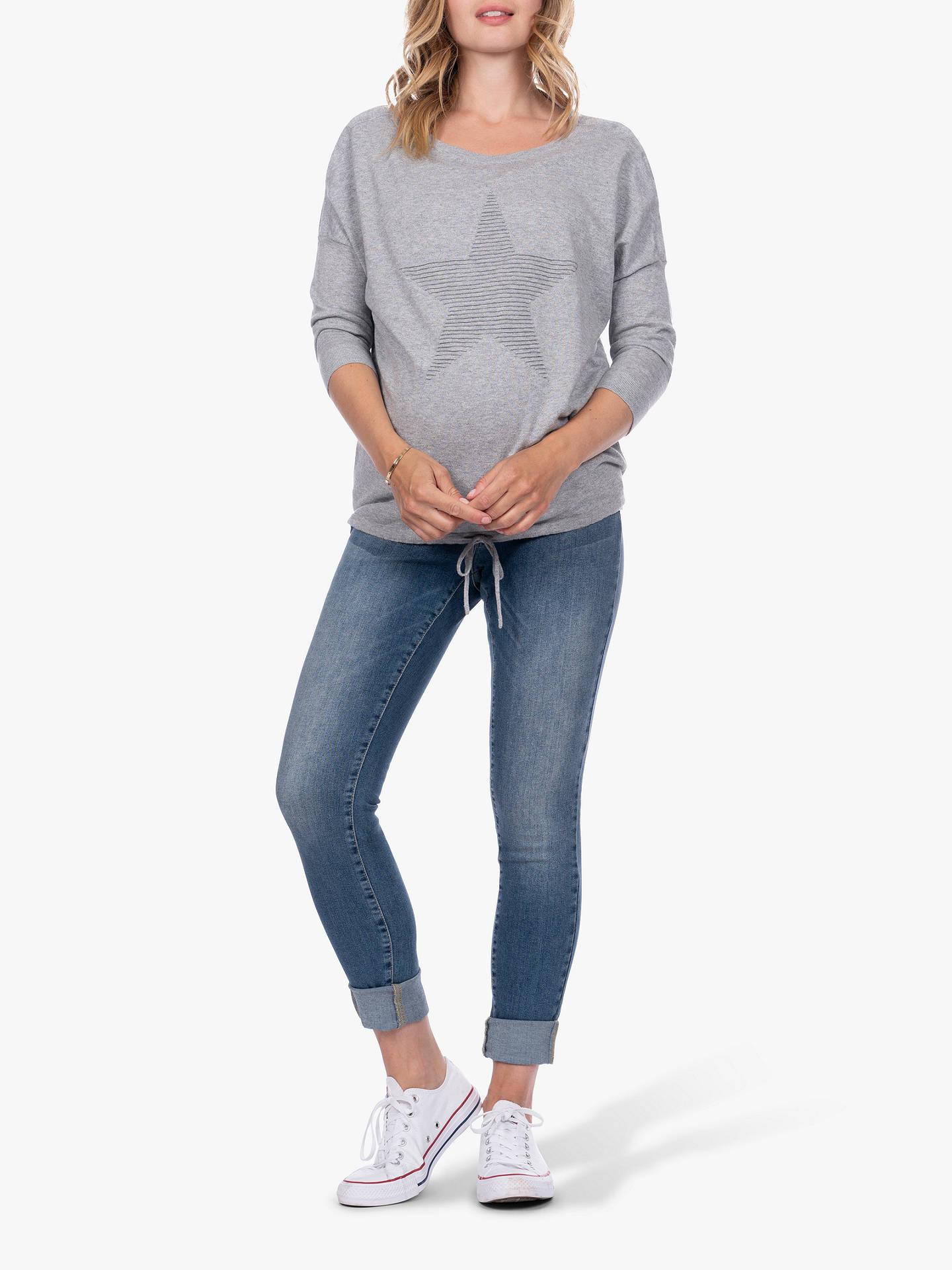 bf2f5bc1537c6 Buy Séraphine Rihanna Star Drawstring Maternity & Nursing Jumper, Grey, L  Online at johnlewis ...