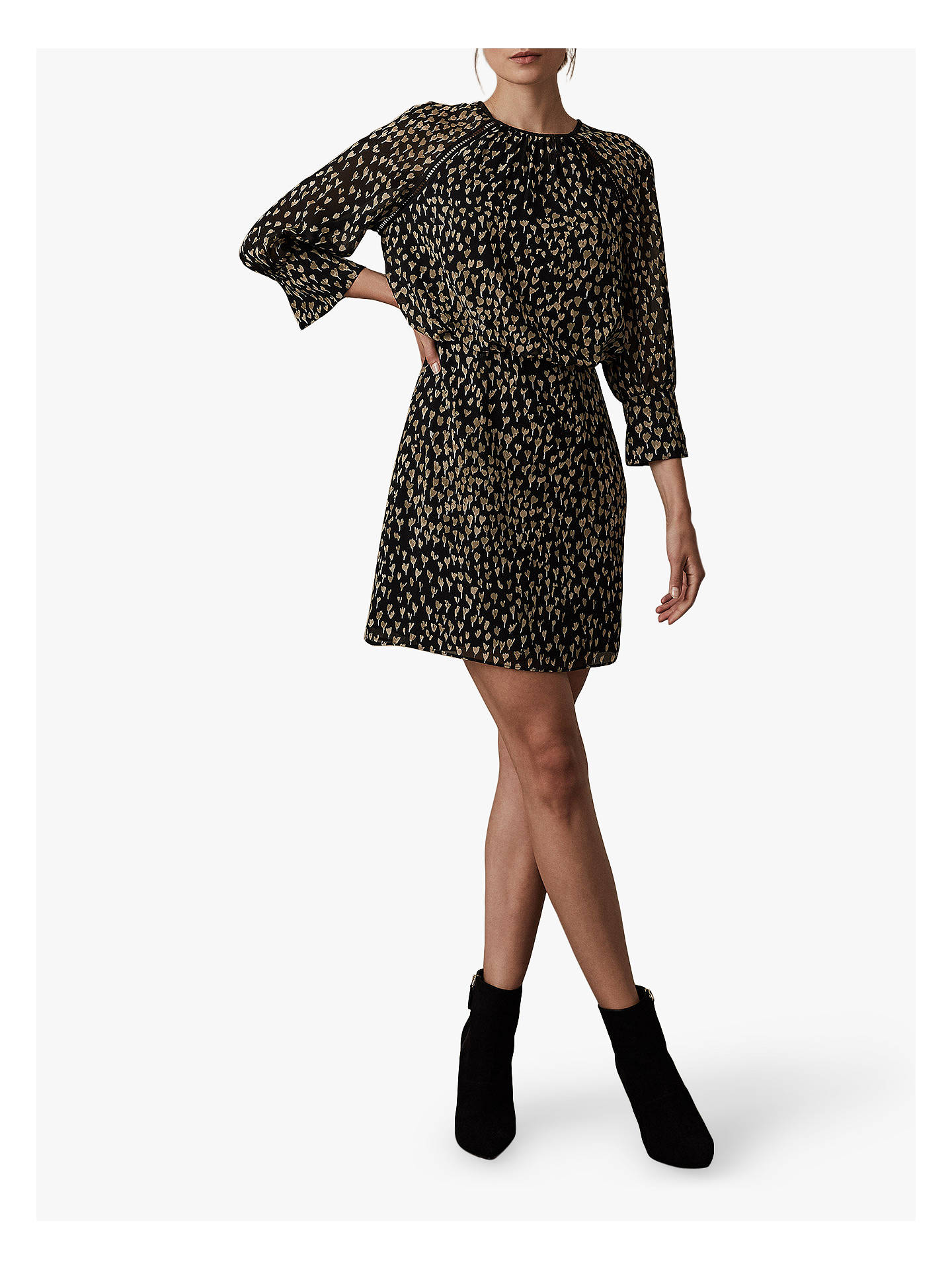 BuyReiss Melania Ditsy Printed Mini Dress, Multi, 6 Online at johnlewis.com