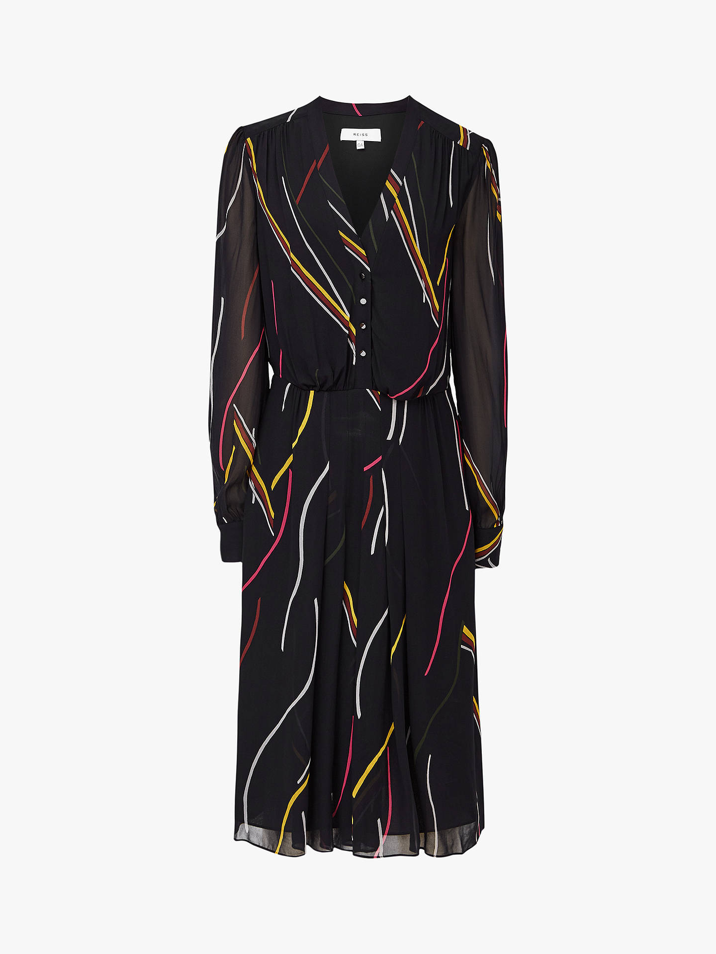 BuyReiss Caralisa Stripe Dress, Multi, 6 Online at johnlewis.com