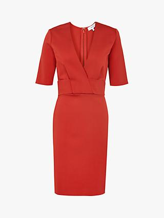 Reiss Rebecca V-Neck Tailored Dress